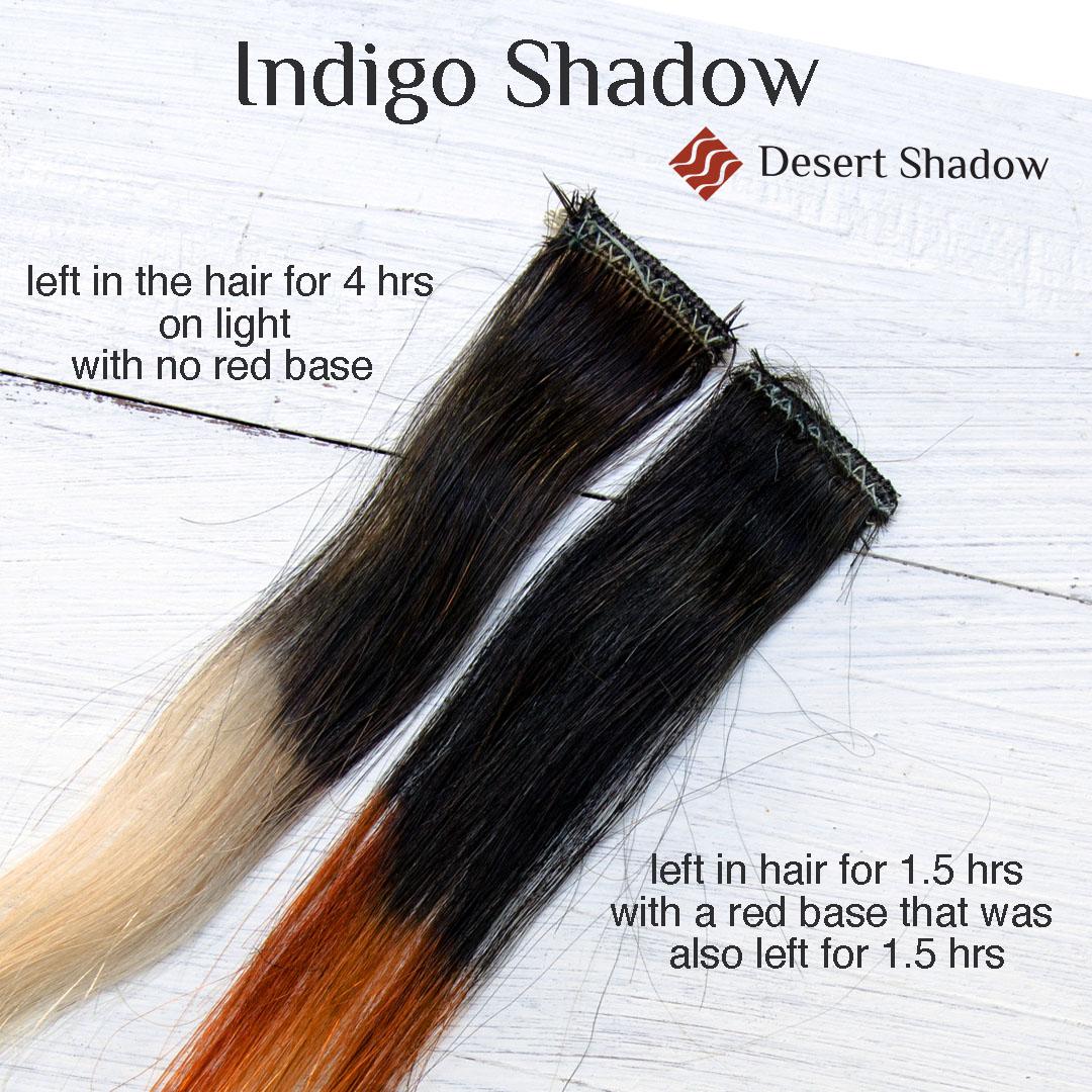 Indigo Shadow blue black colour comparison