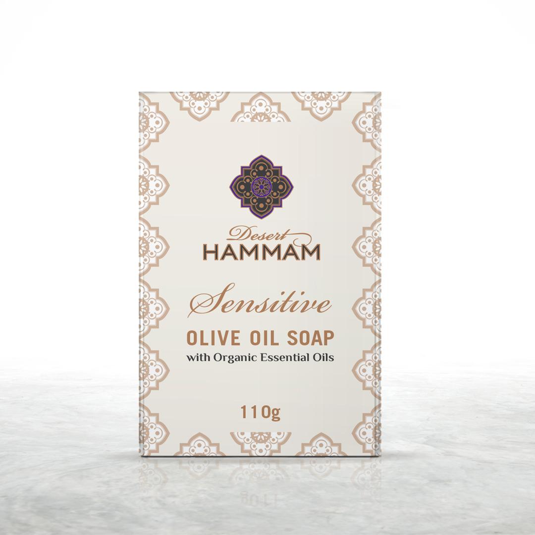 SENSITIVE Olive oil soap Desert Shadow made in Australia product shot