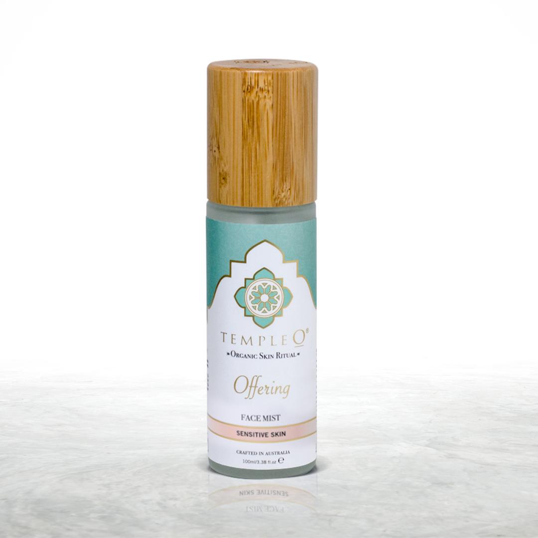Temple O - OFFERING face mist  sensitive skin - certified organic face toner made in Australia