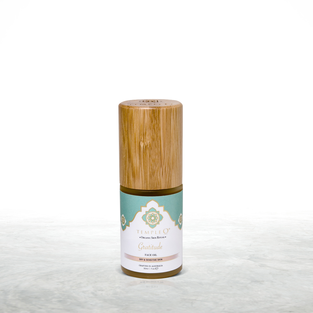 Temple o gratitude certified organic face oil with frankincense & rose oil product shot