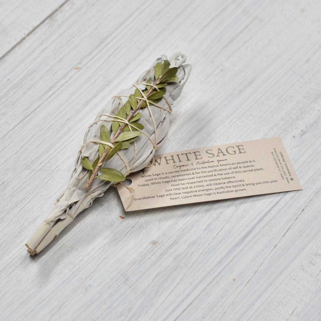 White sage ritual smudge stick incense small product image