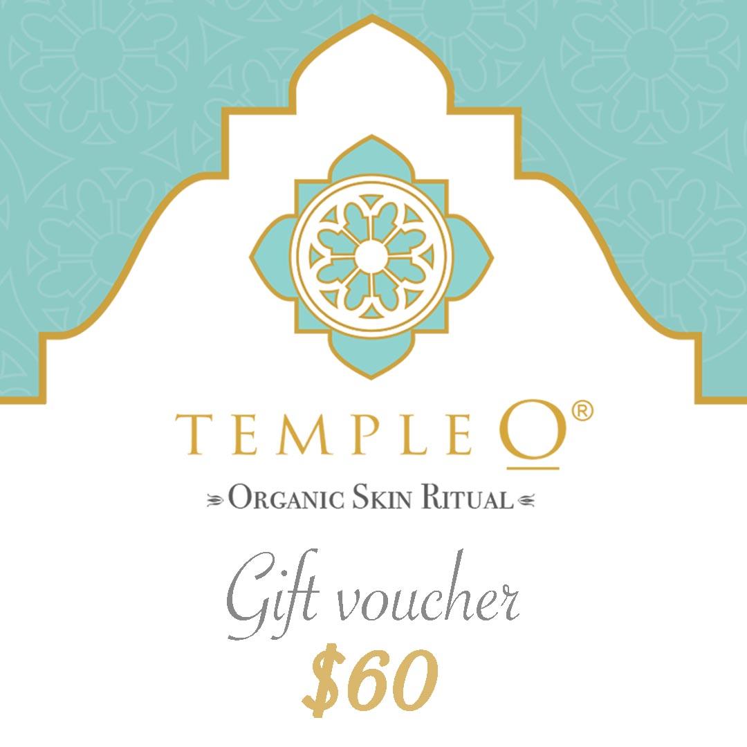 Temple O organic skin care ritual gift voucher $60