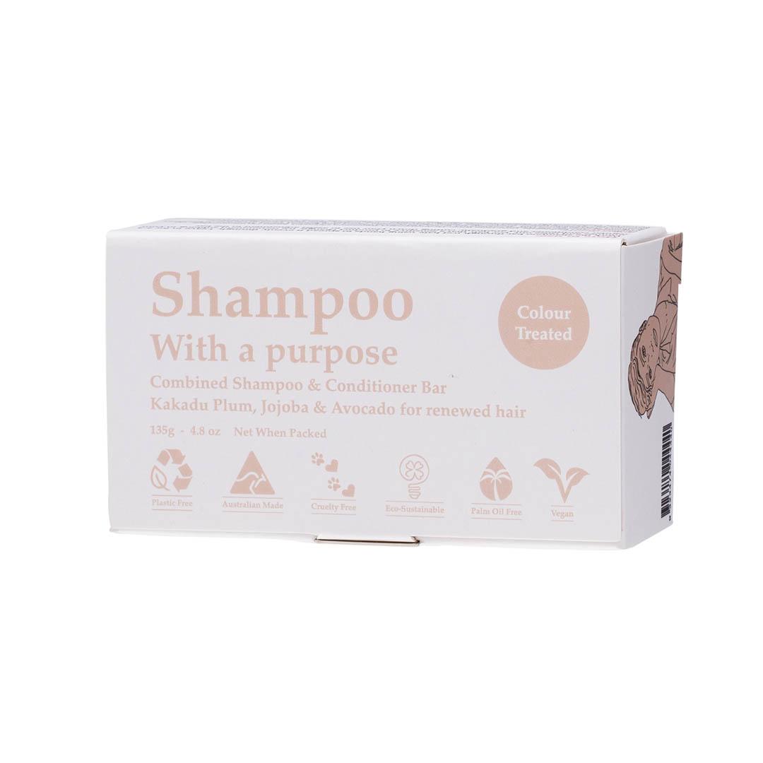 SHAMPOO WITH A PURPOSE plastic free shampoo bar for colour treated hair product image