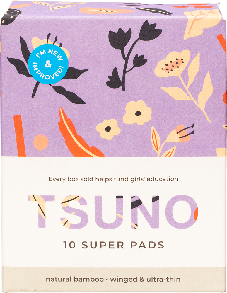 Natural bamboo pads - Super ( winged & ultra thin) 10pack product image