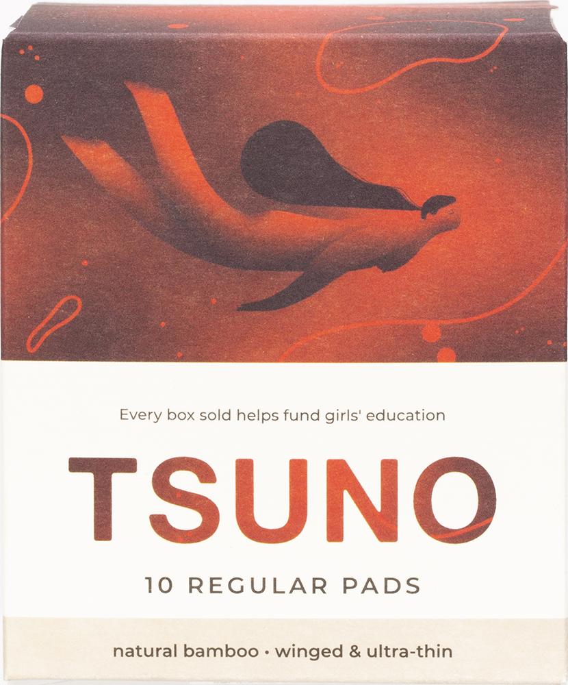TSUNO Natural bamboo pads - Regular (winged & ultra thin)  10 pack product image