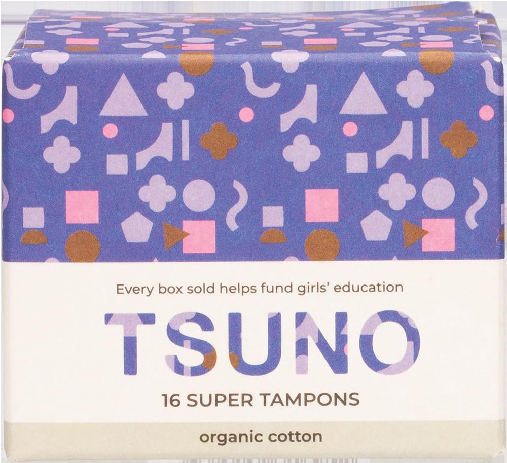 TSUNO Organic cotton tampons Super 16 product image