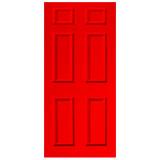 Door Vinyl Decal, Dementia Friendly - Red