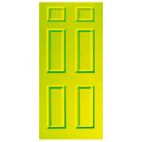Door Vinyl Decal, Dementia Friendly - Lime Green