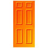 Door Vinyl Decal, Dementia Friendly - Orange