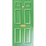 Door Vinyl Decal, Dementia Friendly with Letterbox & Knocker - Green