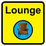 Lounge Sign, Dementia Friendly - 30cm x 30cm