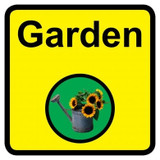 Garden Sign, Dementia Friendly - 30cm x 30cm