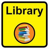 Library Sign, Dementia Friendly - 30cm x 30cm