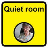 Quiet Room Sign, Dementia Friendly - 30cm x 30cm