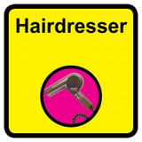 Hairdresser Sign, Dementia Friendly - 30cm x 30cm