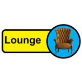 Lounge Sign, Dementia Friendly - 48cm x 21cm