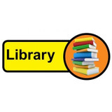 Library Sign, Dementia Friendly - 48cm x 21cm