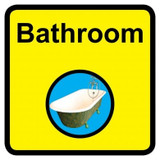 Bathroom Sign, Dementia Friendly - 30cm x 30cm