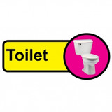 Toilet Sign, Dementia Friendly - 48cm x 21cm
