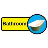 Bathroom Sign, Dementia Friendly - 48cm x 21cm