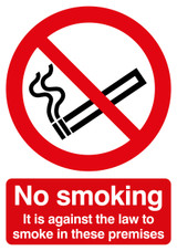 No Smoking It Is Against The Law