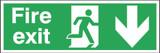 Fire Exit Running Man Arrow Down