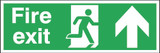 Fire Exit Running Man Arrow Up