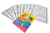 Colouring Cards And Crayons Set - Mixed