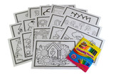 Colouring Cards and Crayon Set (Flowers)