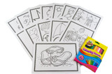 Colouring Cards And Crayons Set - Beach