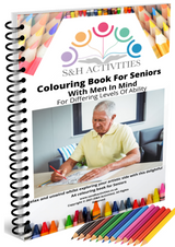 Adult Colouring Book - With Men In Mind