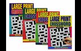 Large Print Crossword Puzzle book Set - 4 Titles