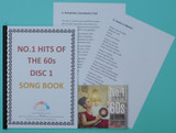 No1 Hits of the 60's 2 x CD and Song book