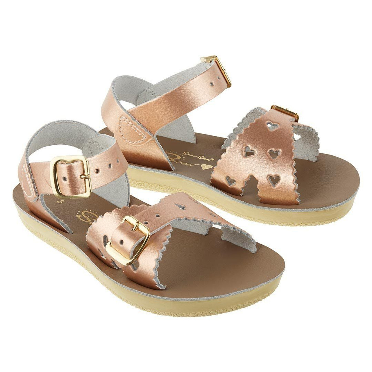 3ab3afa554bd Sweetheart Rose Gold Sandals (Toddler Child) - Cecil and Lou