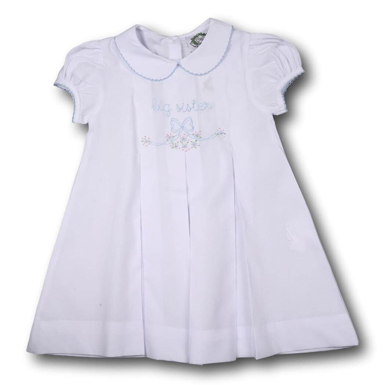 c504518e88 Blue Hand Embroidery Big Sister Dress - Cecil and Lou