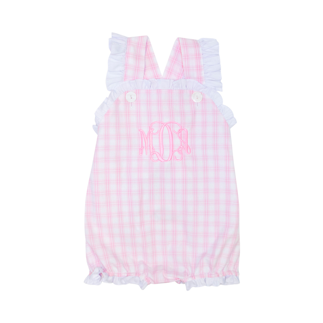 7789aa9ff Pink Check Ruffle Bubble - Cecil and Lou