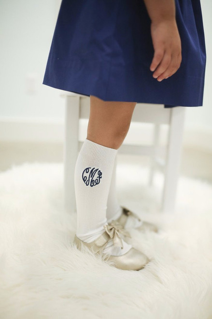 71c468c0aa4 Monogrammed Knee High Socks - Cecil and Lou