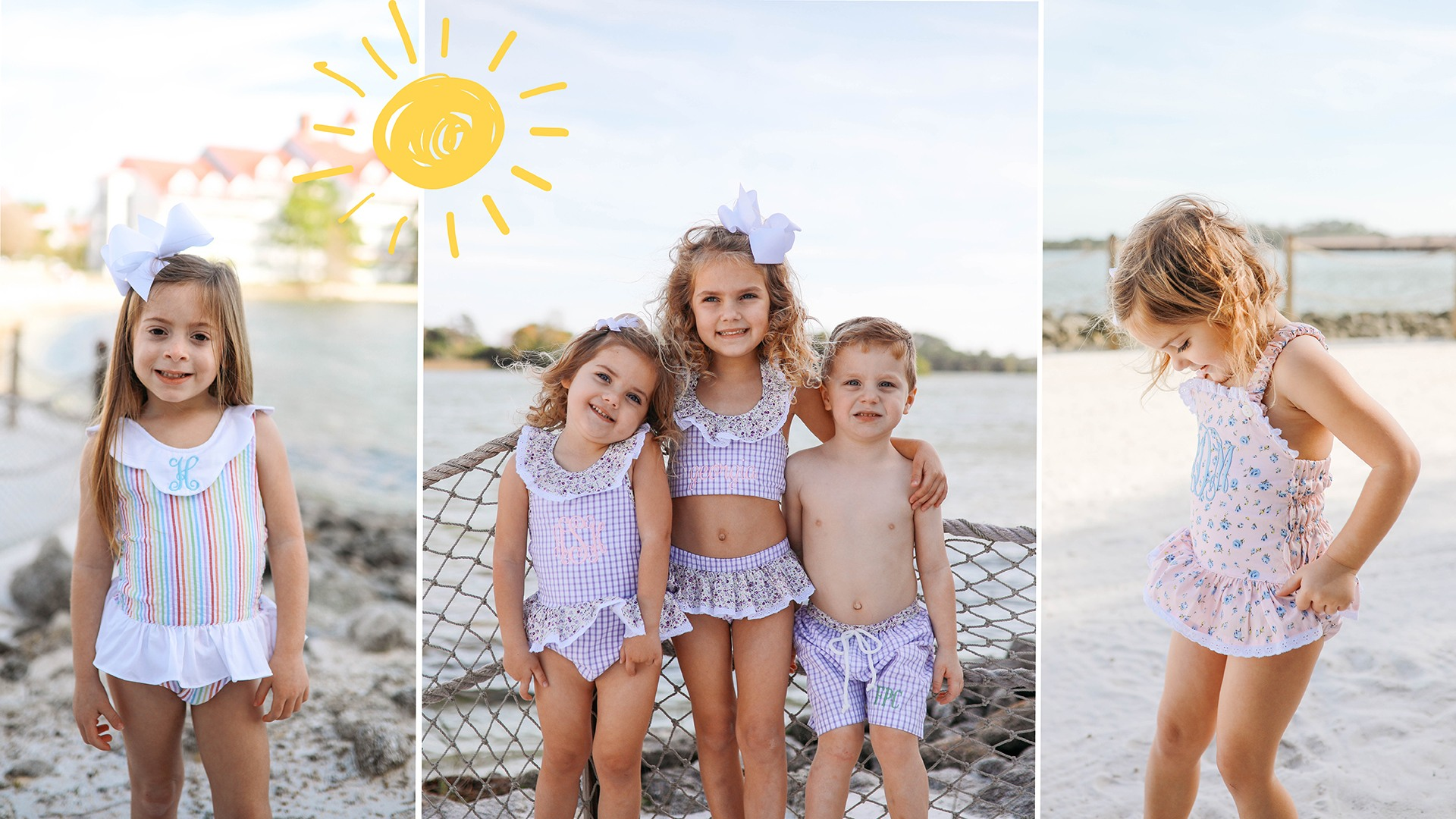 childrens swimsuits and accessories