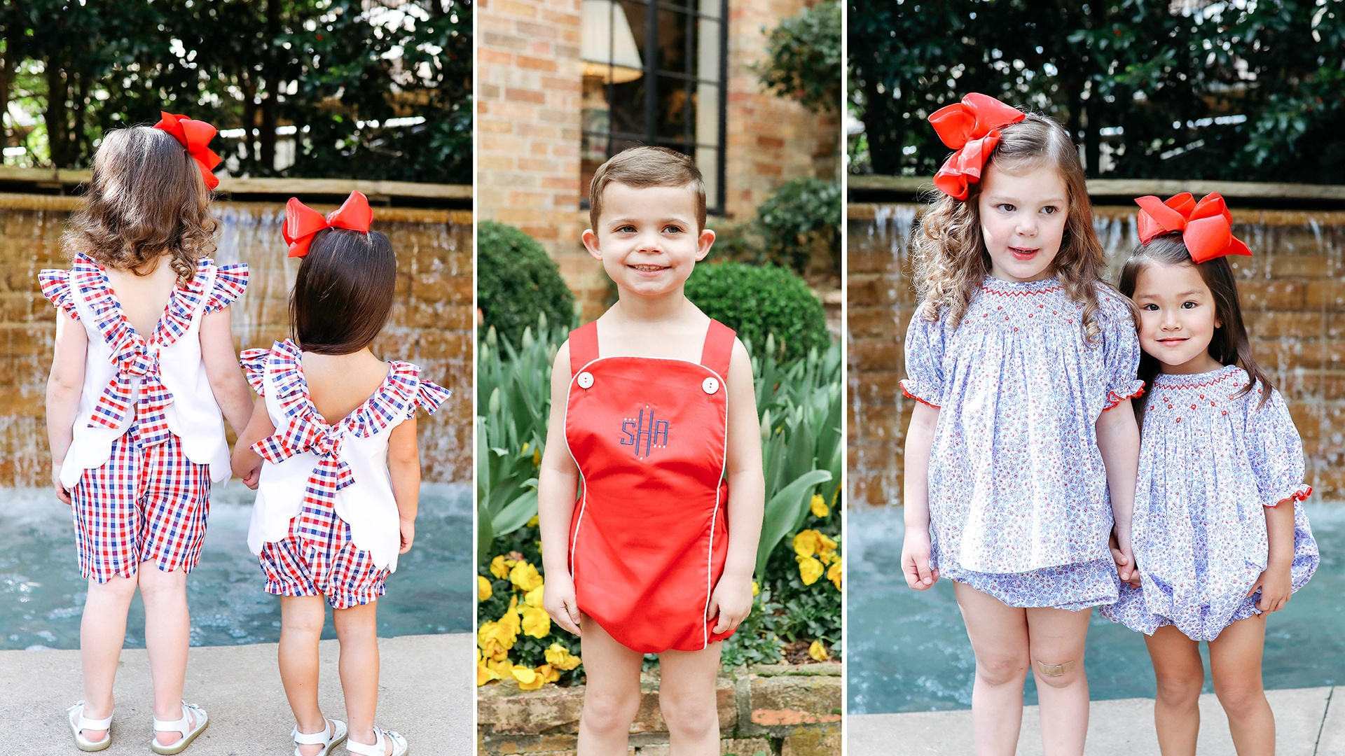 Children's Red, White, and Blue Outifts