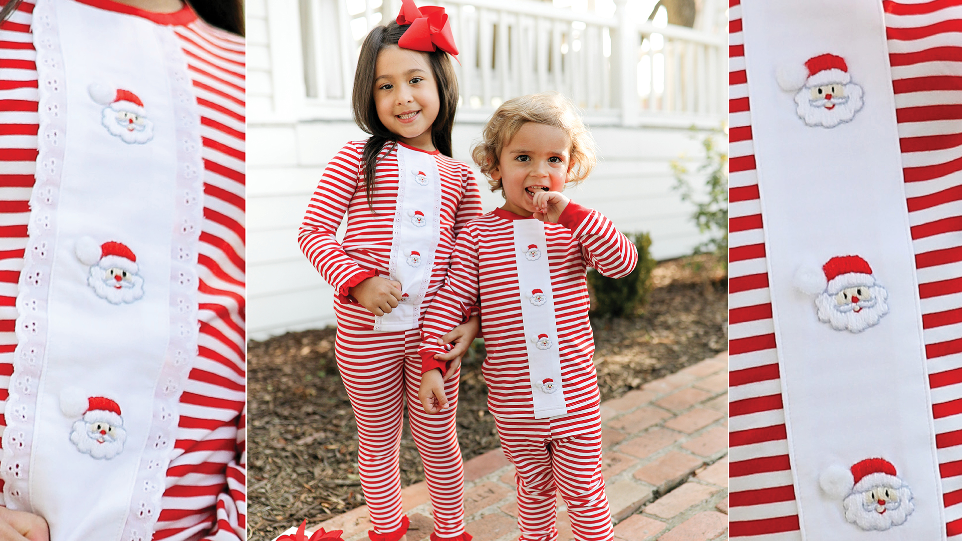 Kids in red, white, and blue patriotic outfits
