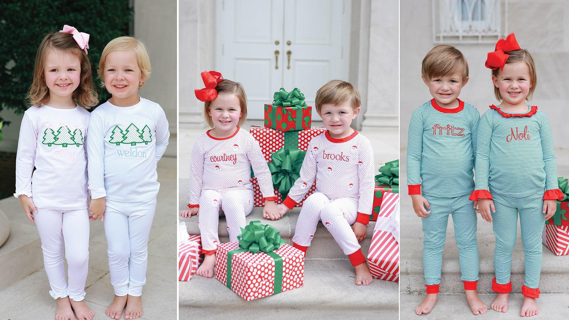 Children's Christmas Pajamas at Cecil & Lou