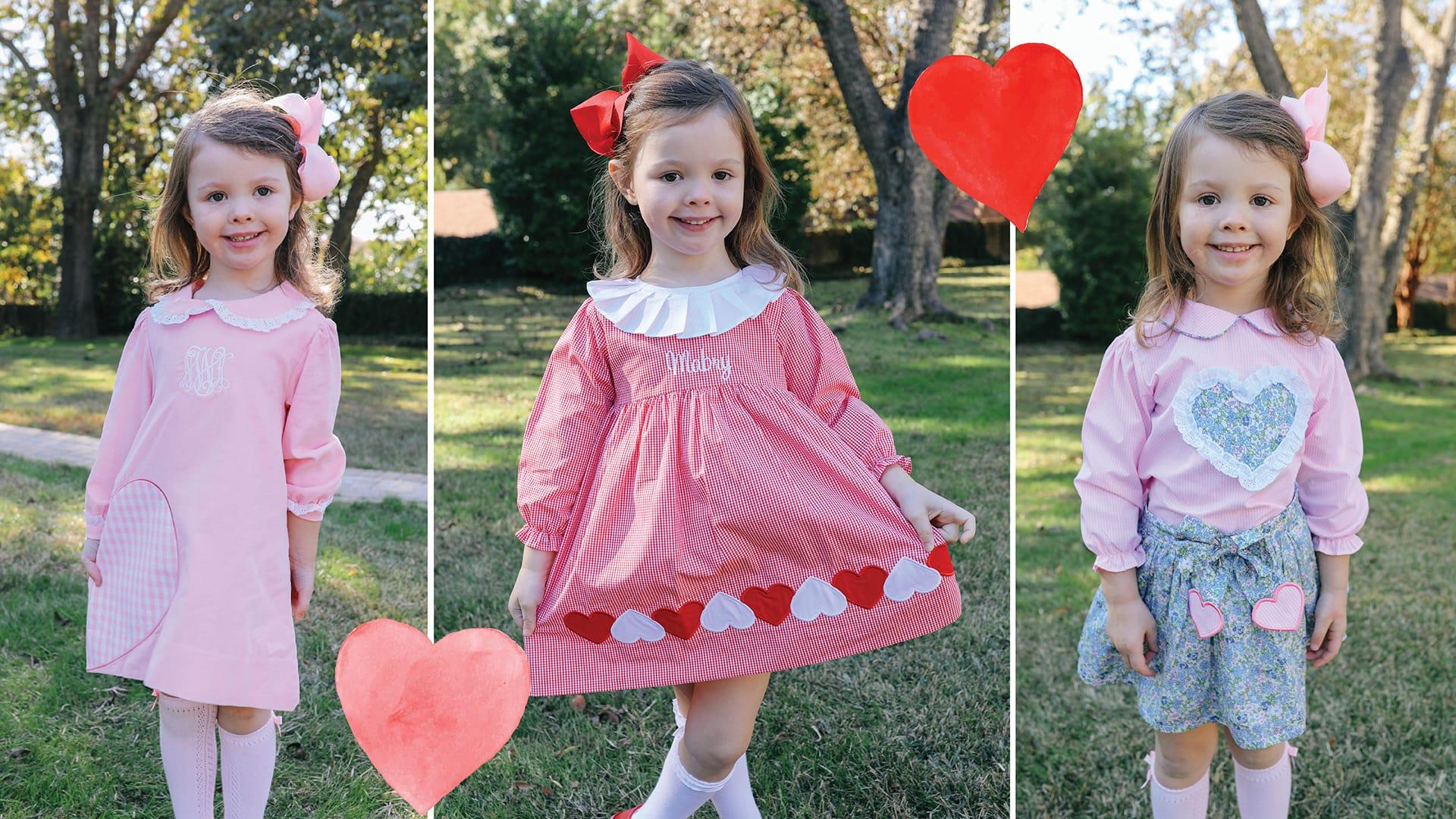 Girls Valentines Clothing