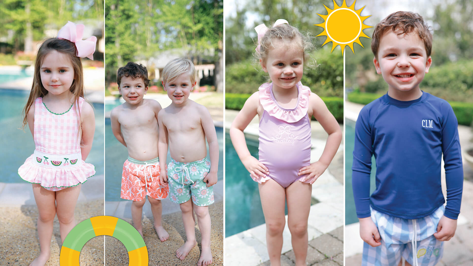 Children's Swimsuits at Cecil and Lou