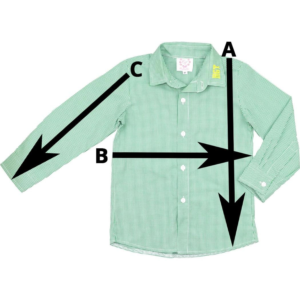 Button Down Shirt Size Chart