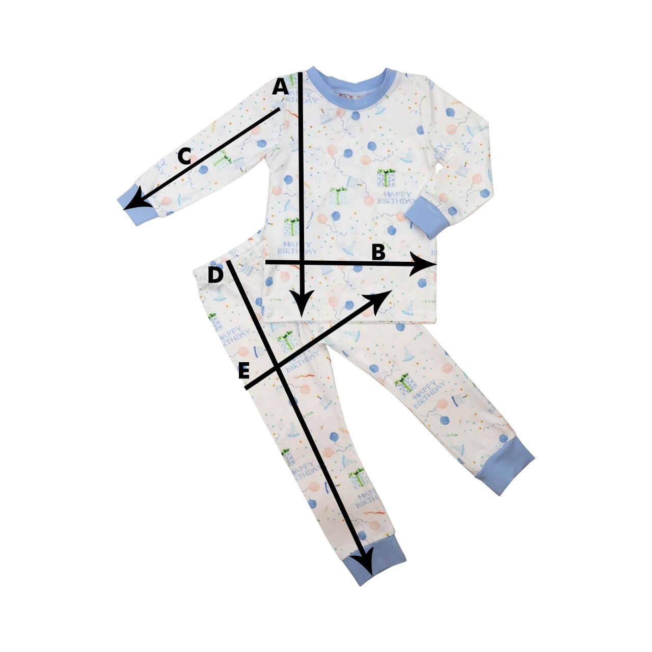Knit Pajamas Size Chart