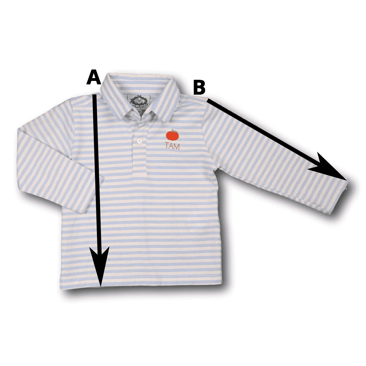 Long Sleeved Polo Shirt Size Chart