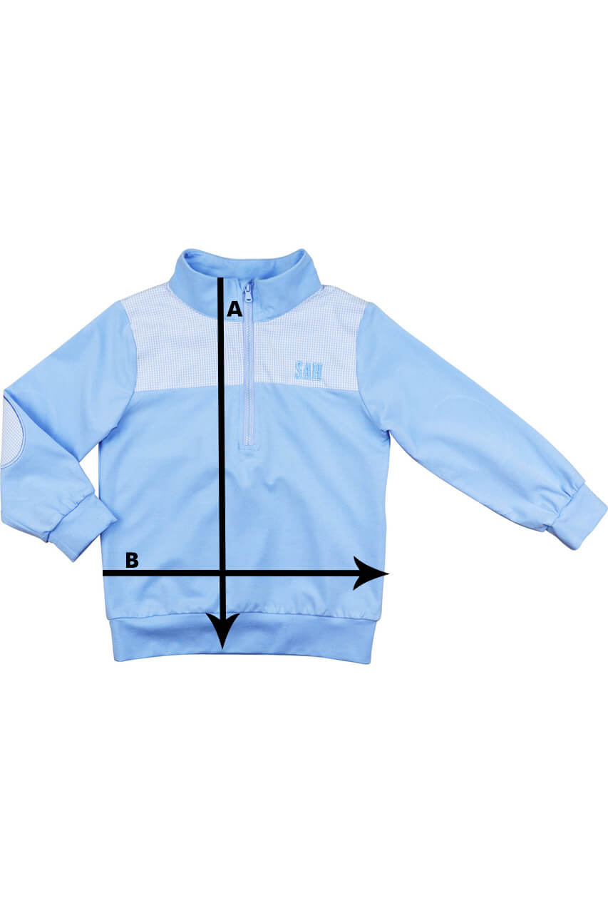 Pullovers Size Chart