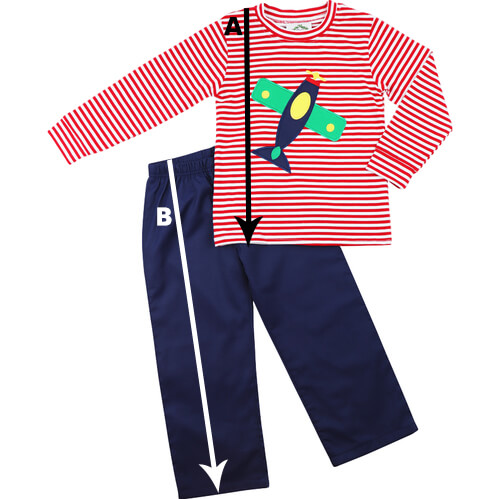 Boys T-Shirt Pant Set Size Chart
