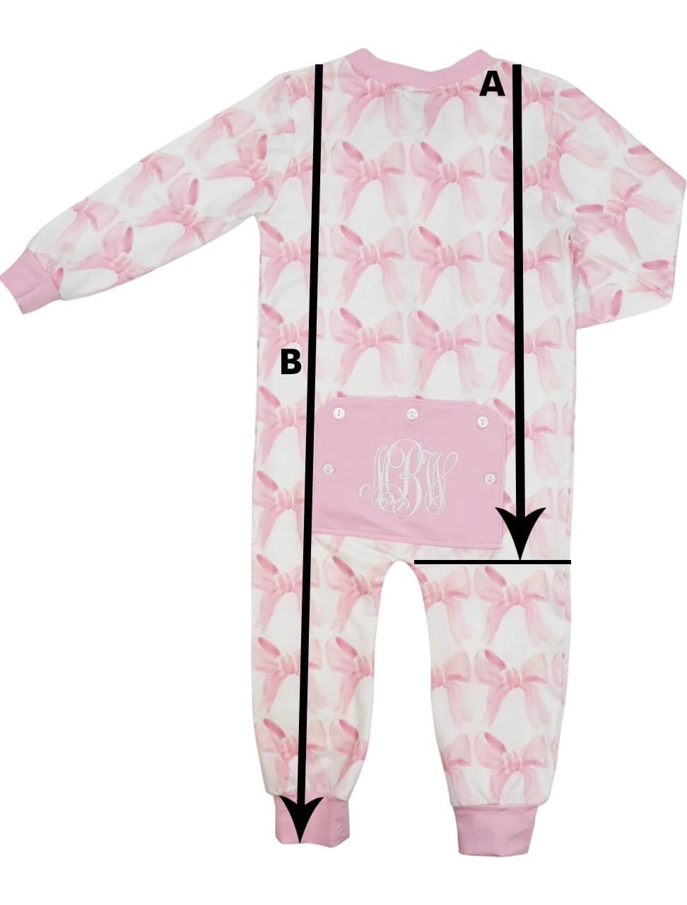 Zipper Pajamas Size Chart