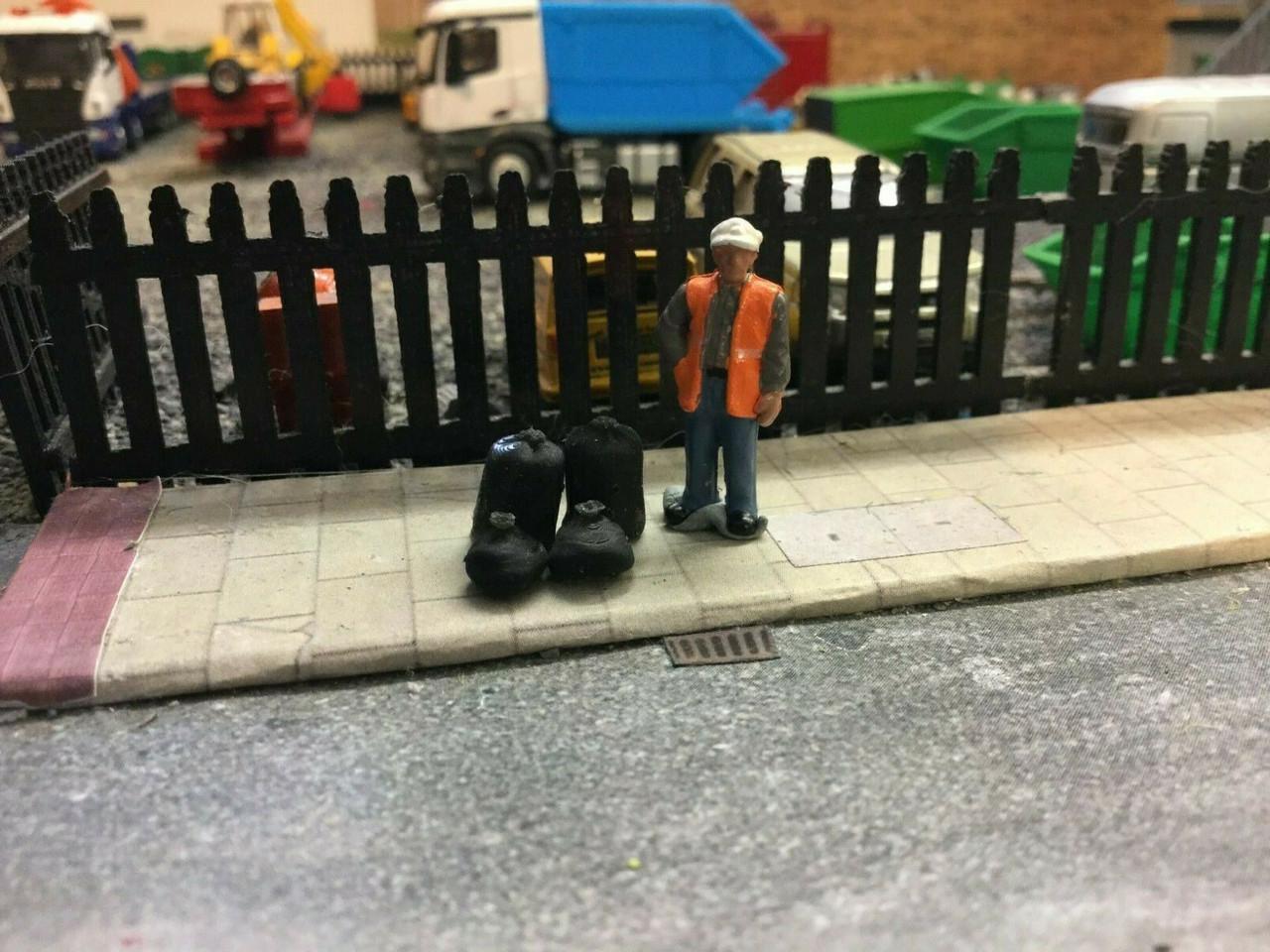 00 gauge 3D printed Bin Bags 9pkt
